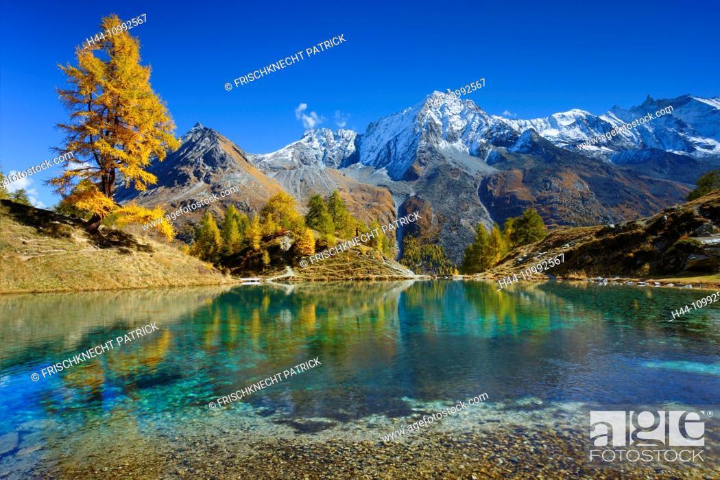 Imagen: Lac Bleu, Grande Dent de Veisivi, Dent de Perroc, Aiguille de la Tsa, Valais, Switzerland.