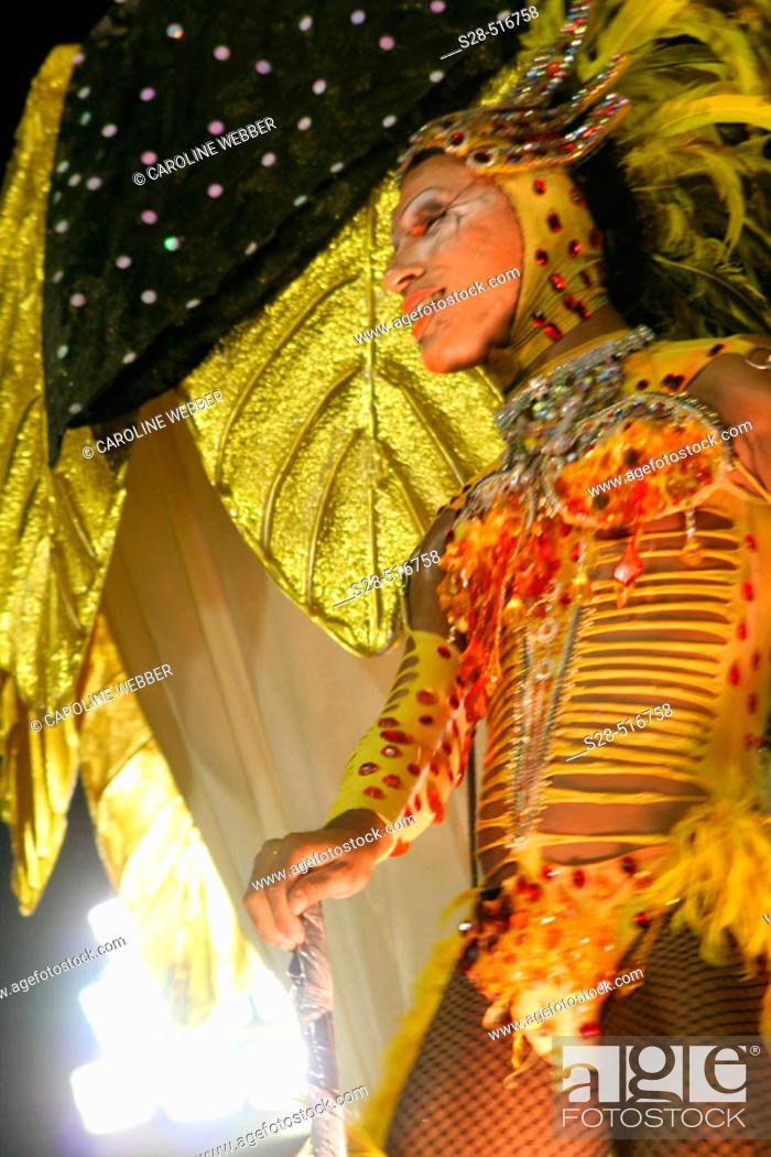 Stock Photo: Drag queen at Carnival, Rio de Janeiro.