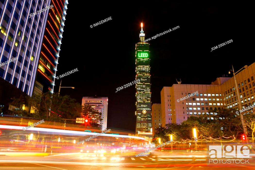 Stock Photo: Taiwan, Taipei, Taipei 101, Xinyi Commercial Center.