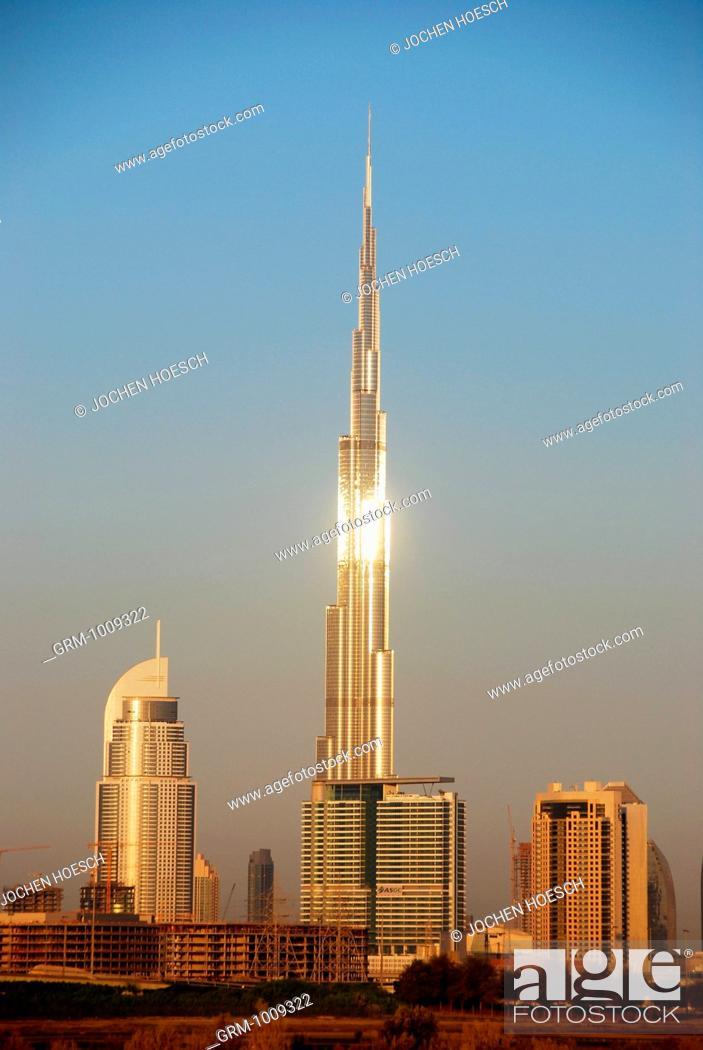 Stock Photo: Burj Khalifa in Dubai, UAE.