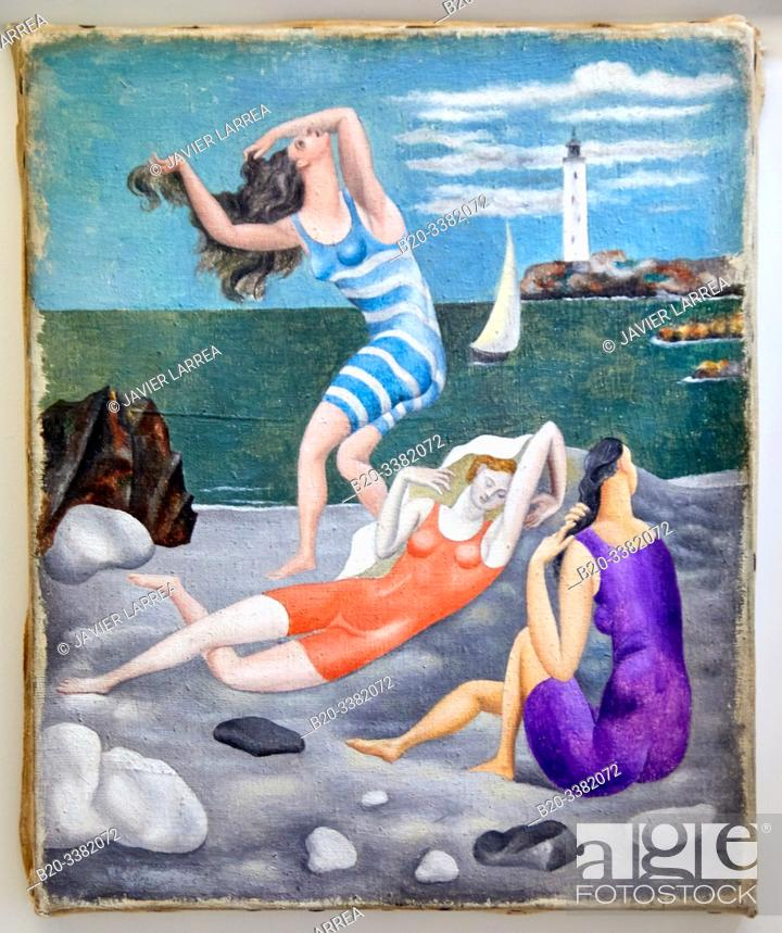 "Stock Photo: ""Les Baigneuses"", 1918, Pablo Picasso, Picasso Museum, Paris, France, Europe."