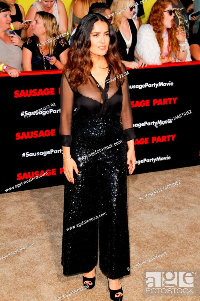 Stock Photo: Salma Hayek at the World Premiere of Columbia Pictures' and AnnaPurna Pictures' Sausage Party held at the Regency Village Theatre in Westwood.