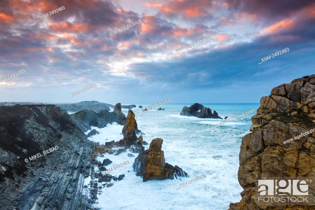 Stock Photo: Cliffs. Costa Quebrada (Broken Coast), Cantabria, Spain, Europe.