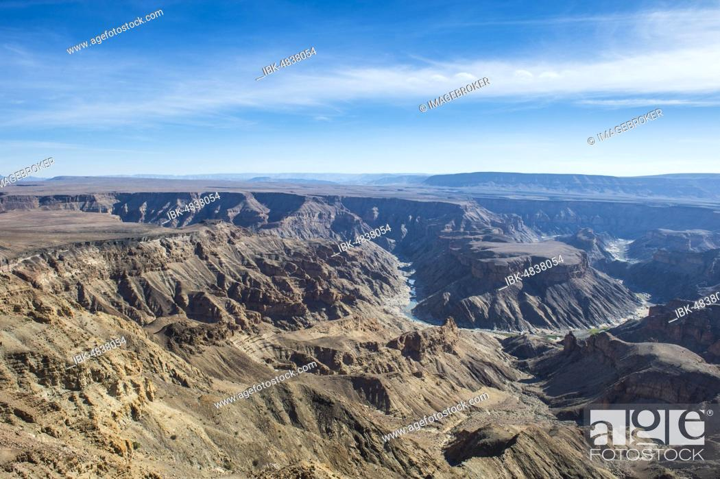 Stock Photo: Overlook over the Fish River Canyon, Namibia, Africa.