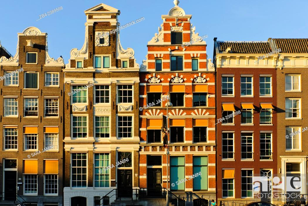 Stock Photo: Dutch houses, Amsterdam, Netherlands, Europe.