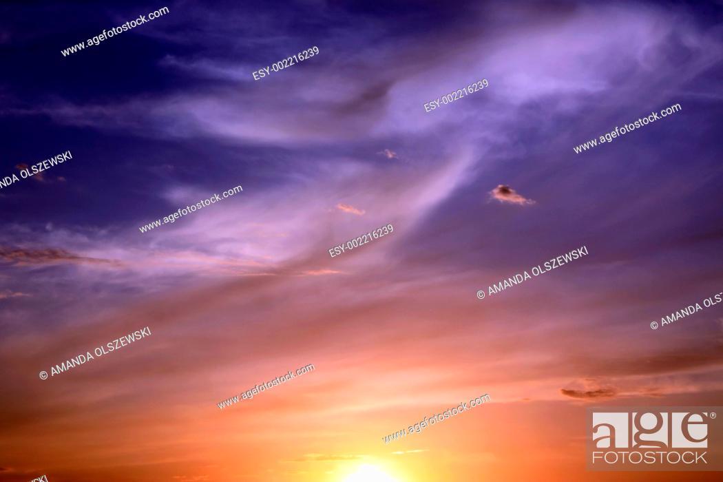 Stock Photo: purple sunset.