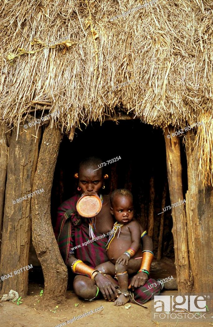 Stock Photo: Surma people, Sudan.