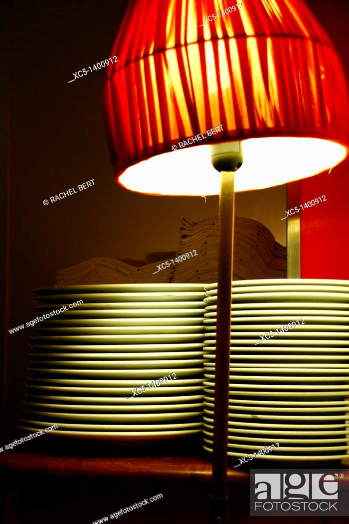 Stock Photo: Detail of a service corner, Restaurant, Ciutat Vella, Barcelona, Catalonia, Spain.