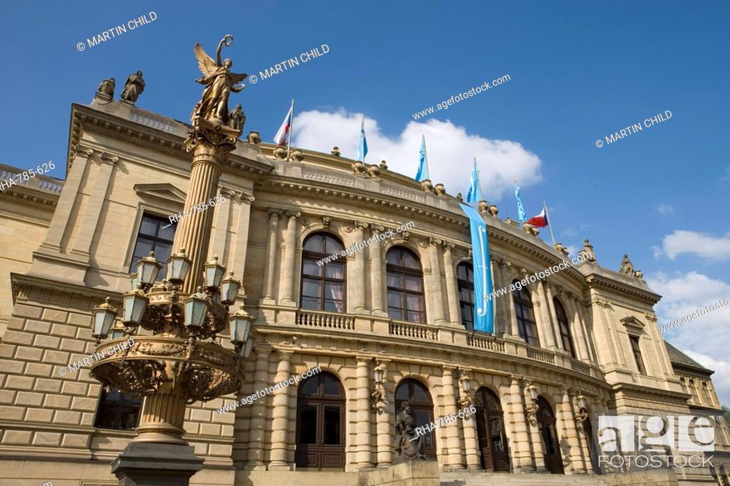 Stock Photo: Rudolfinum, Old Town, Prague, Czech Republic, Europe.