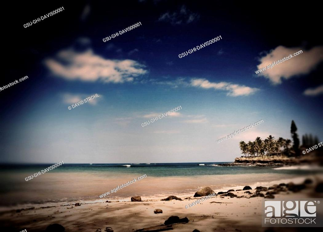 Stock Photo: beaches, hawaii, tropical,.