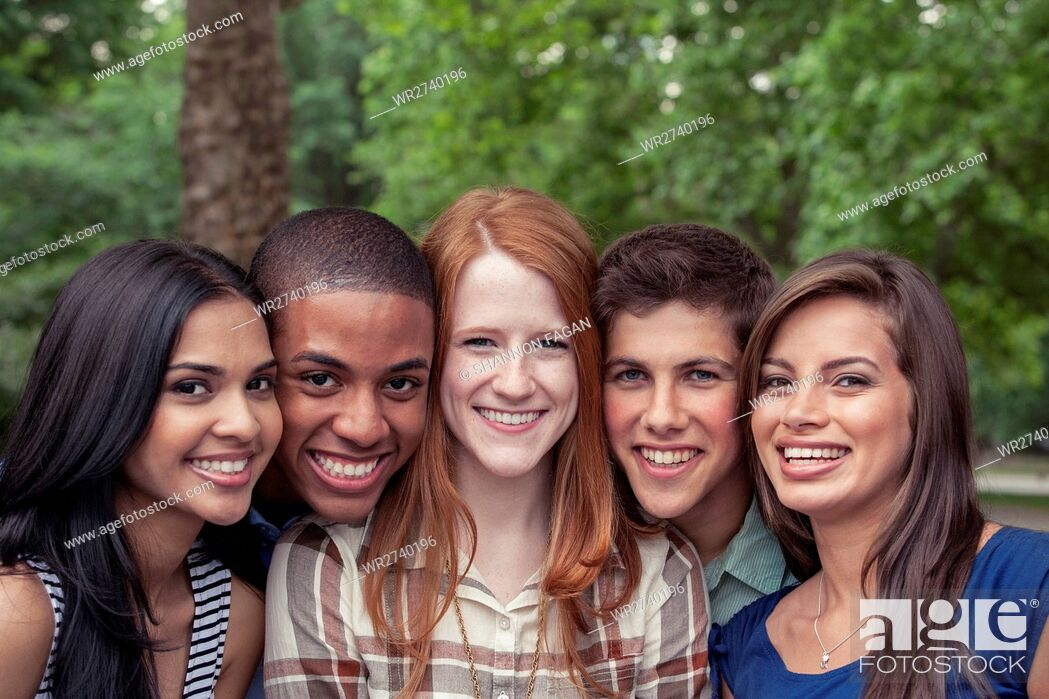 Stock Photo: Teenage friends spending time together.