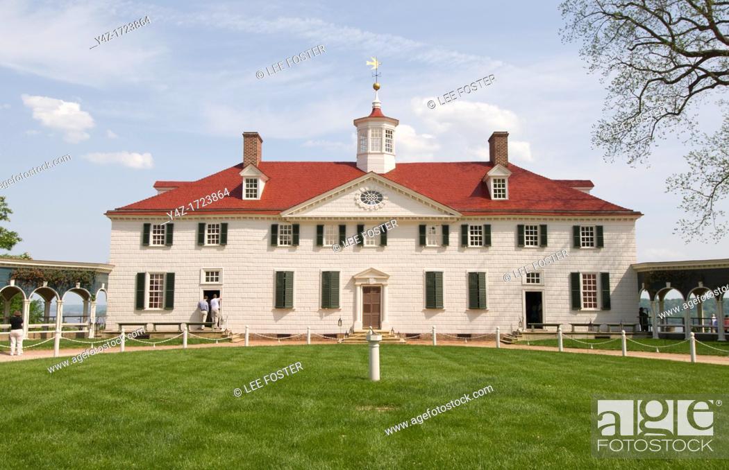 Stock Photo: Washington DC, USA, George Washington's historic estate at Mount Vernon.