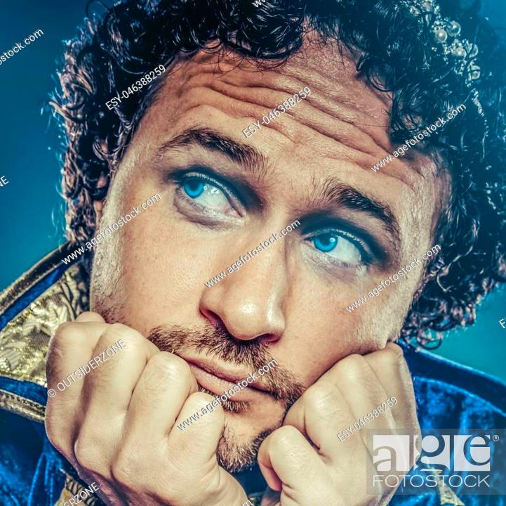 Stock Photo: Blue prince, nobility concept, royal fantasy.