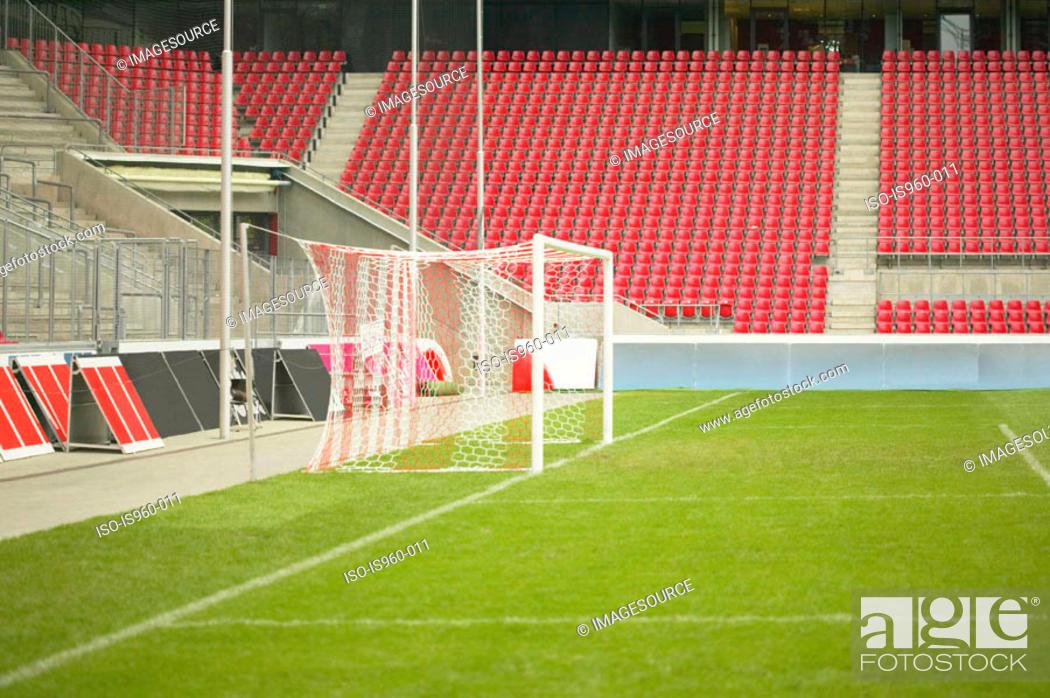 Stock Photo: Empty football stadium.
