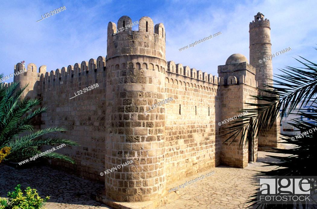 Stock Photo: Aghlabid 'ribat' (monastery-fortress) in the medina. Susah. Tunisia.