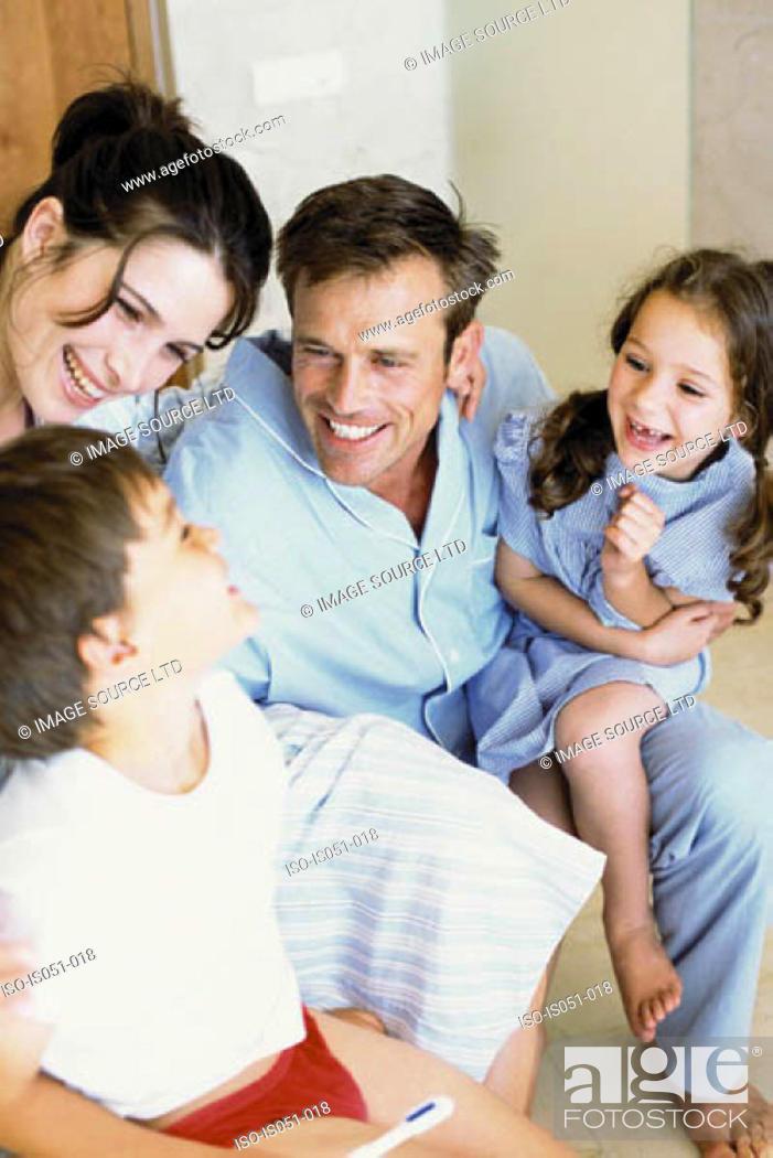 Stock Photo: Family having fun.