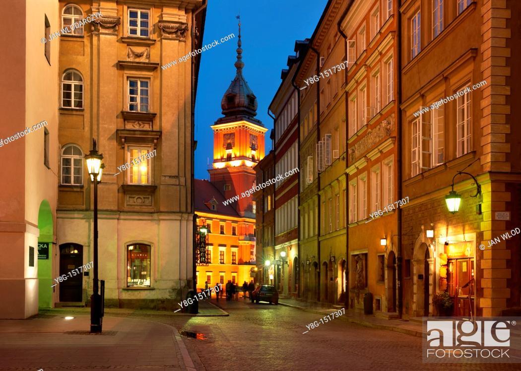 Stock Photo: Warsaw, Old Town, Poland, Europe.