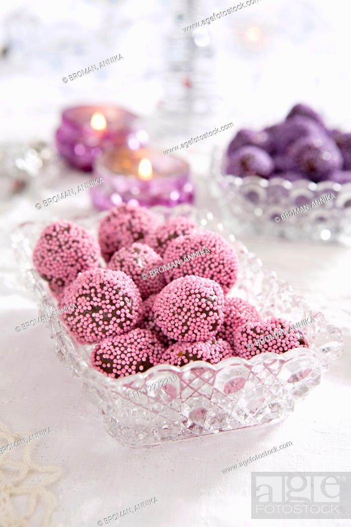 Stock Photo: Chocolate balls.