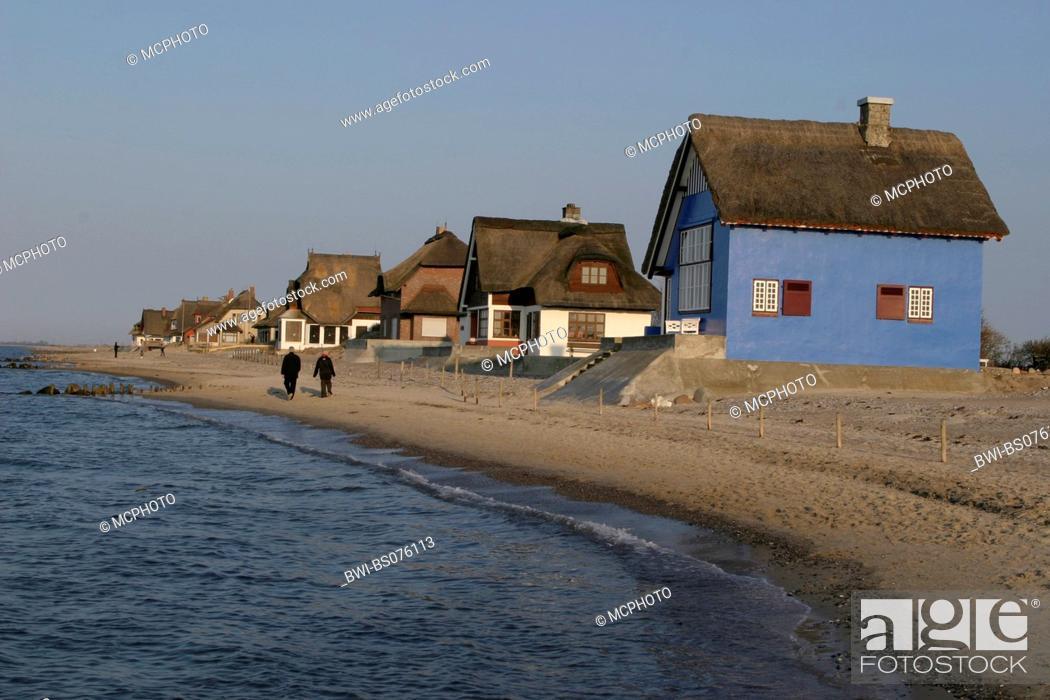 Stock Photo: summer residences in Heiligenhafen, Germany, Graswarder.