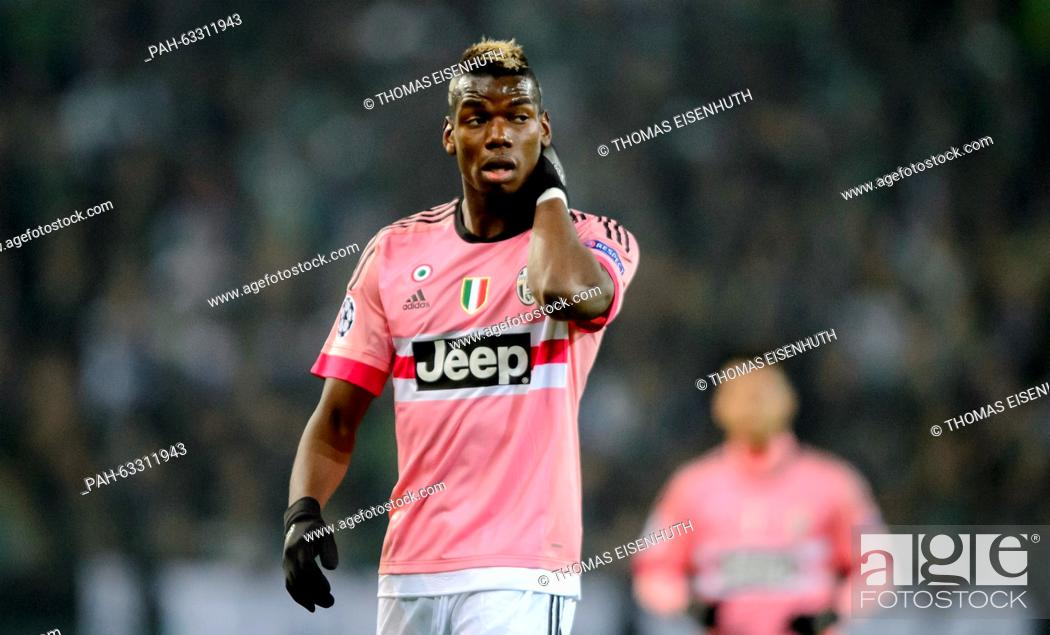 competitive price ca3f9 0e0b6 Turin's Paul Pogba at the UEFA Champions League match ...