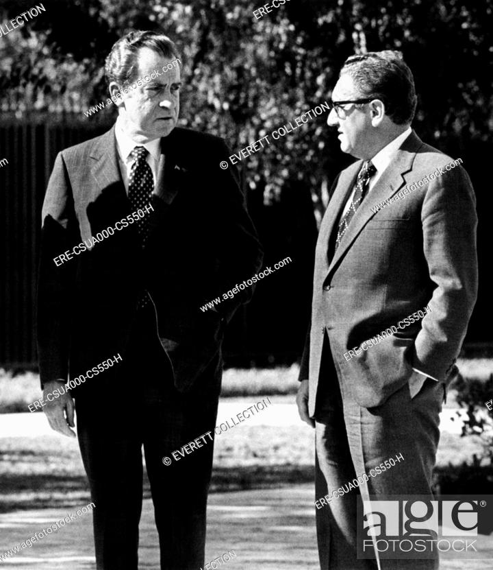 President Richard Nixon With His National Security Adviser Henry