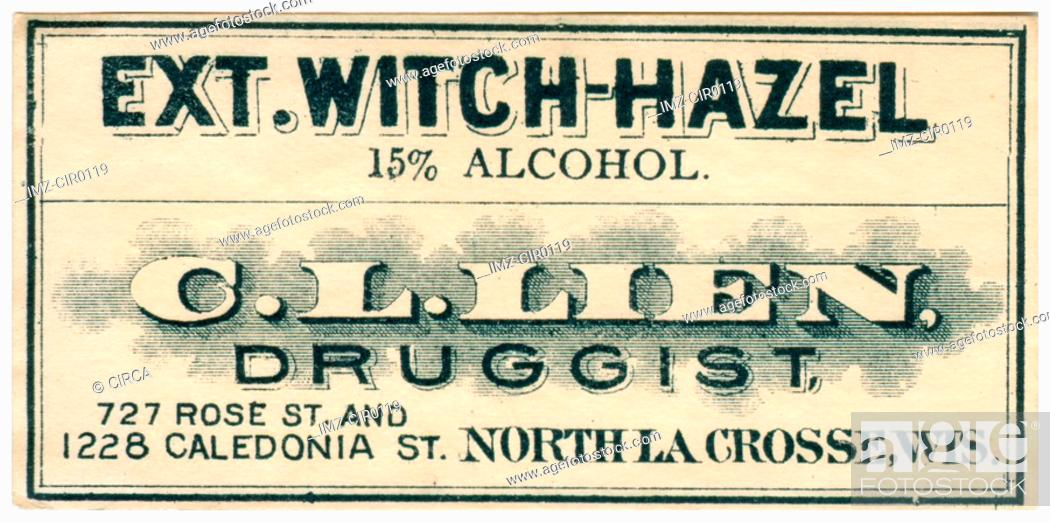 Stock Photo: A vintage medical label.