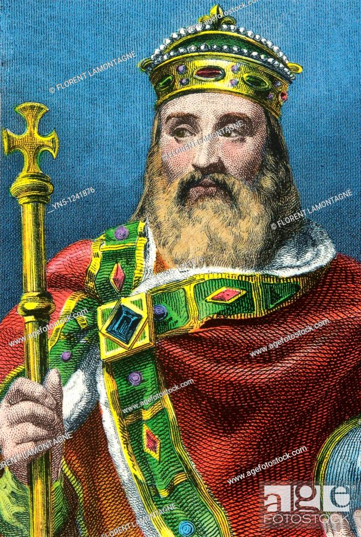 Stock Photo: CHARLEMAGNE 742-814, king of France surnamed 'The Great' and Emperor of Occident.