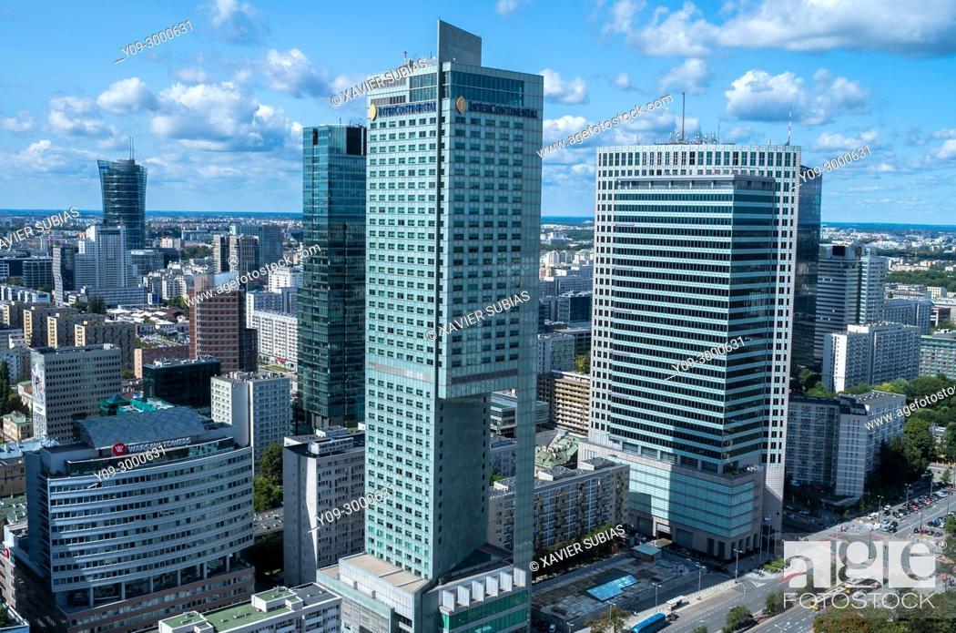Stock Photo: Financial center, Warsaw, Poland.