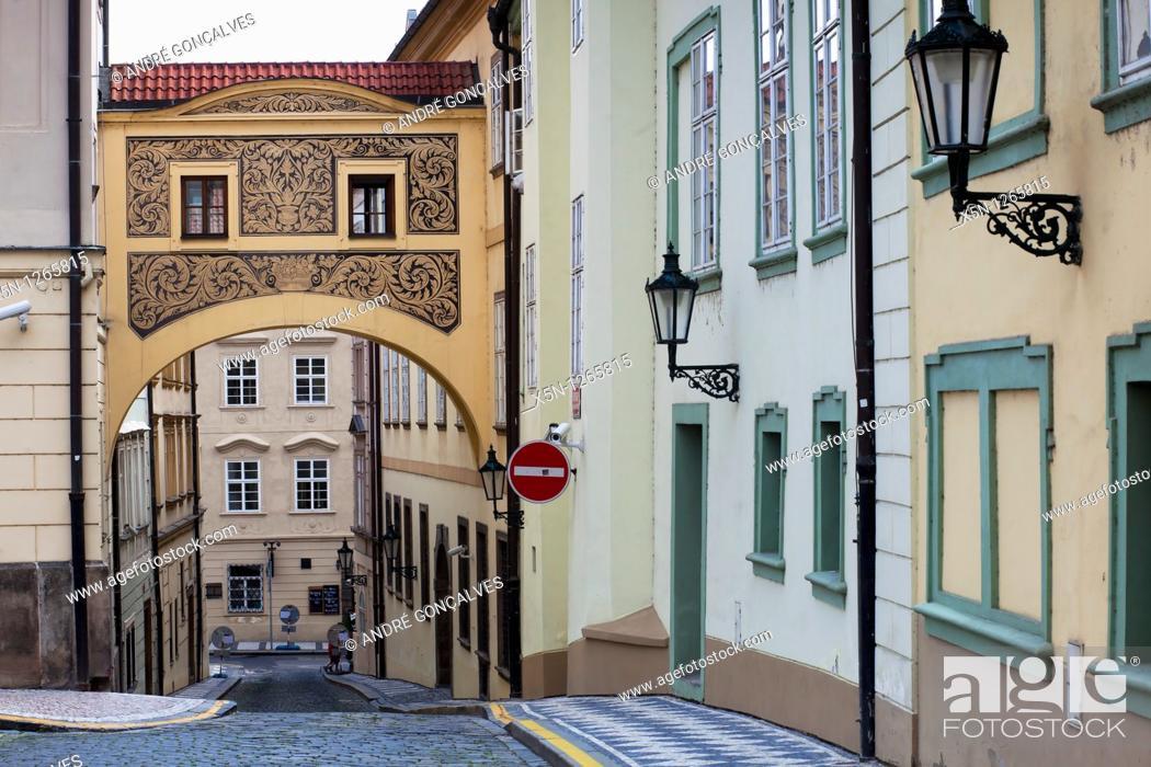 Stock Photo: Streets of Prague, Czech Republic.