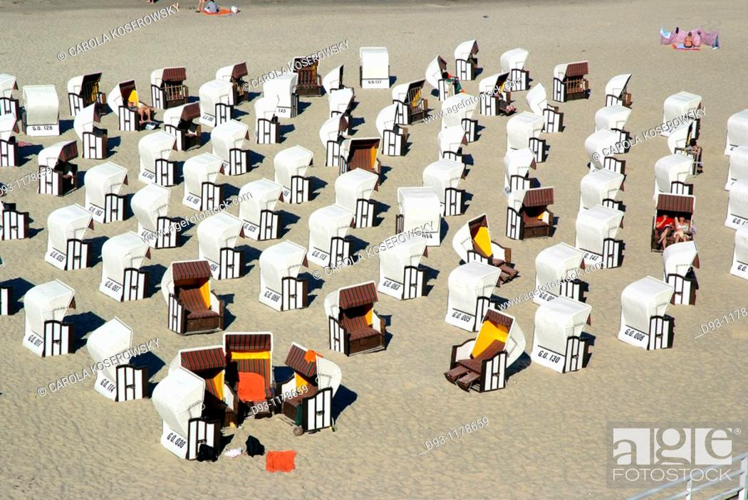 Stock Photo: Beach Chairs in Sellin.