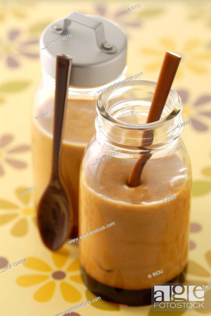 Stock Photo: Salt butter fudge mousse.