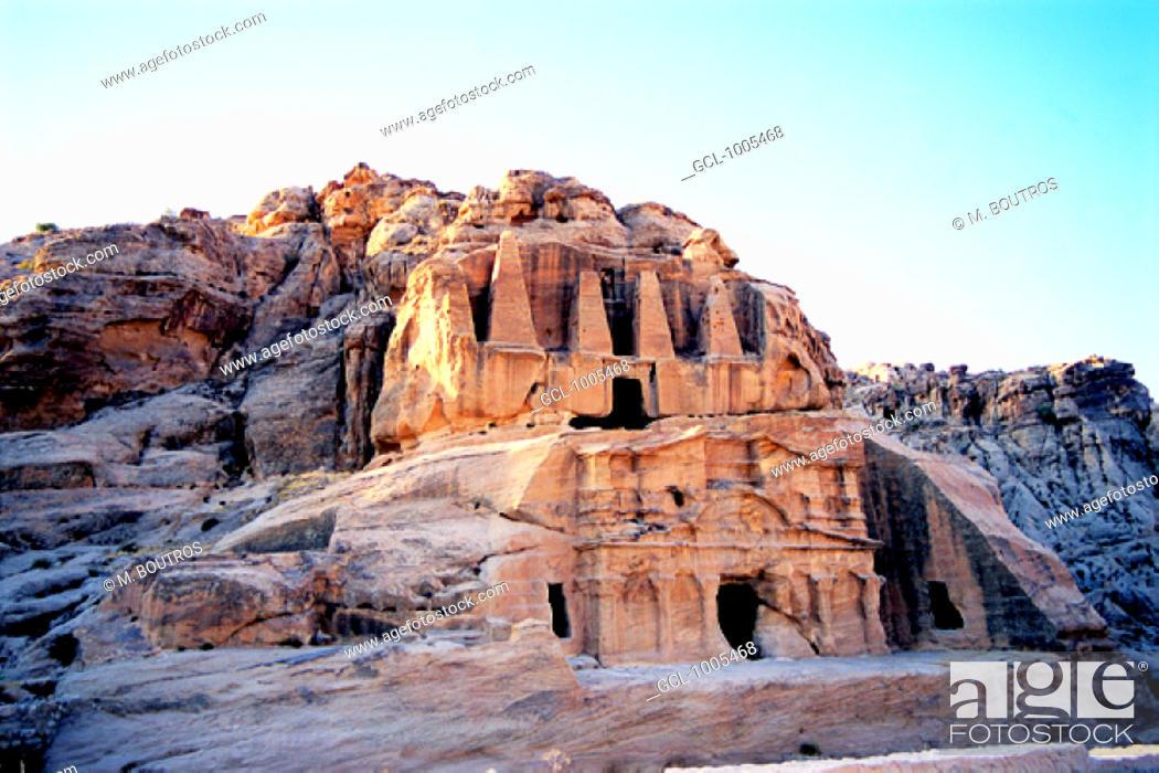 Stock Photo: Historical Site in Petra, Jordan.
