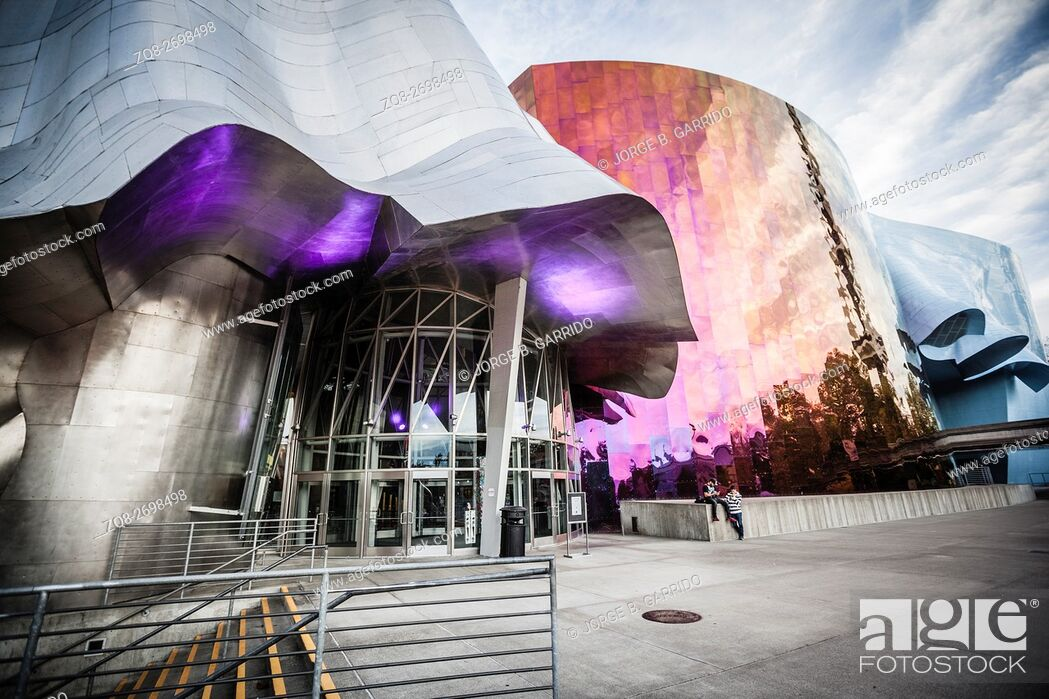 Stock Photo: The Experience Music Project is a museum, Seattle, Washington State.