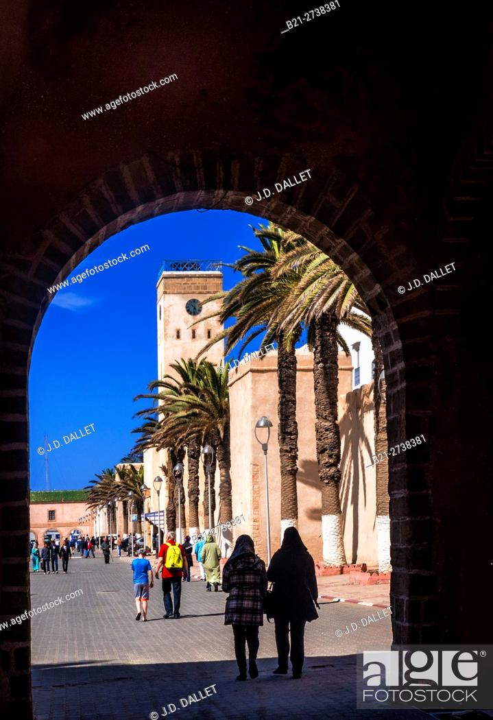 Stock Photo: Place du Mechouar, Essaouira, Morocco.