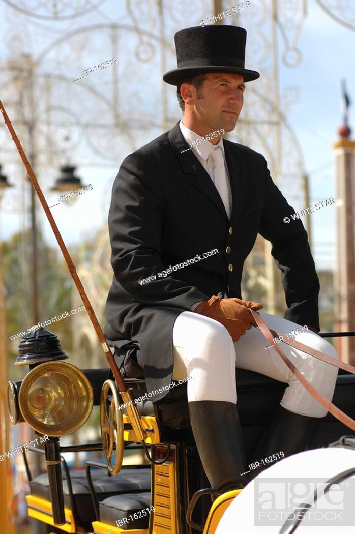 Stock Photo: Coachman , Feria de Caballo , Jerez de la Frontera , Cadiz , Andalusia , Spain , Europe.