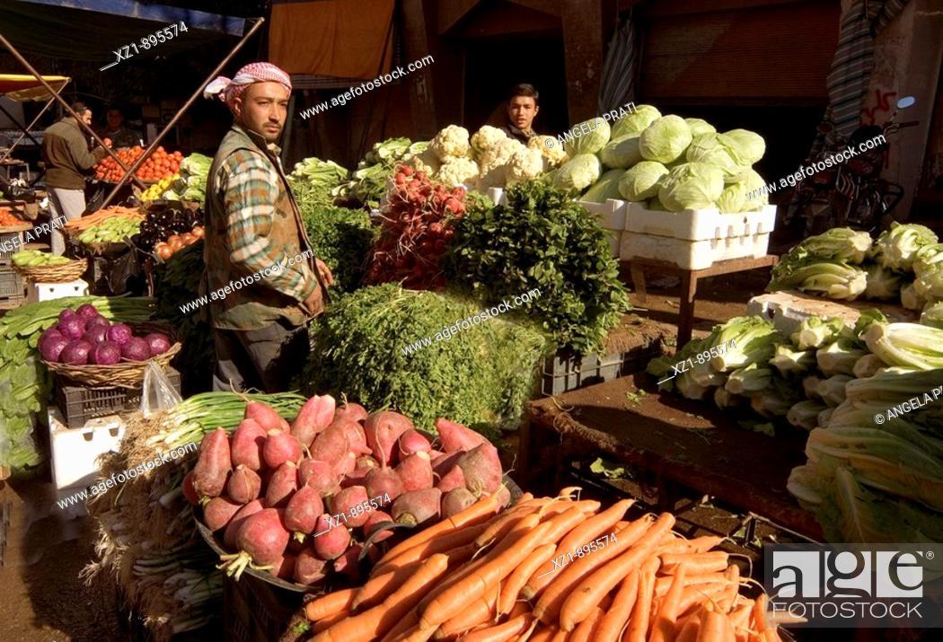 Stock Photo: Vegetable market, Deir Ez Zor, Syria.