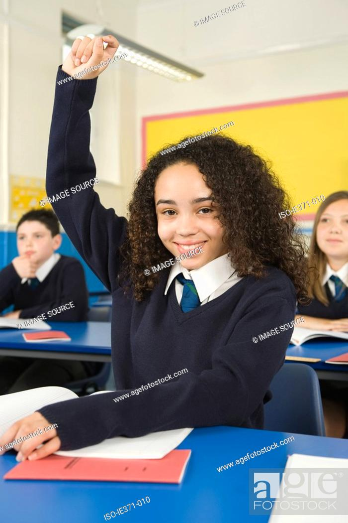Stock Photo: Pupils in class.