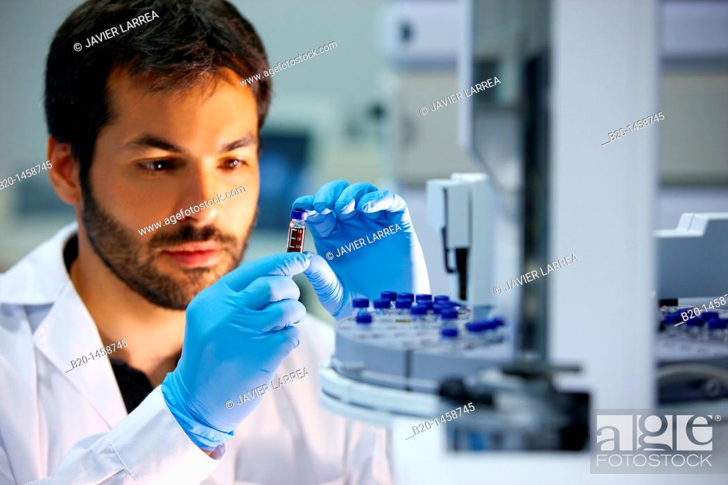 Stock Photo: Chromatograph, Technology Research Center, Tecnalia Construction, CIDEMCO-Tecnalia Research & Innovation, development of new products and innovative solutions.