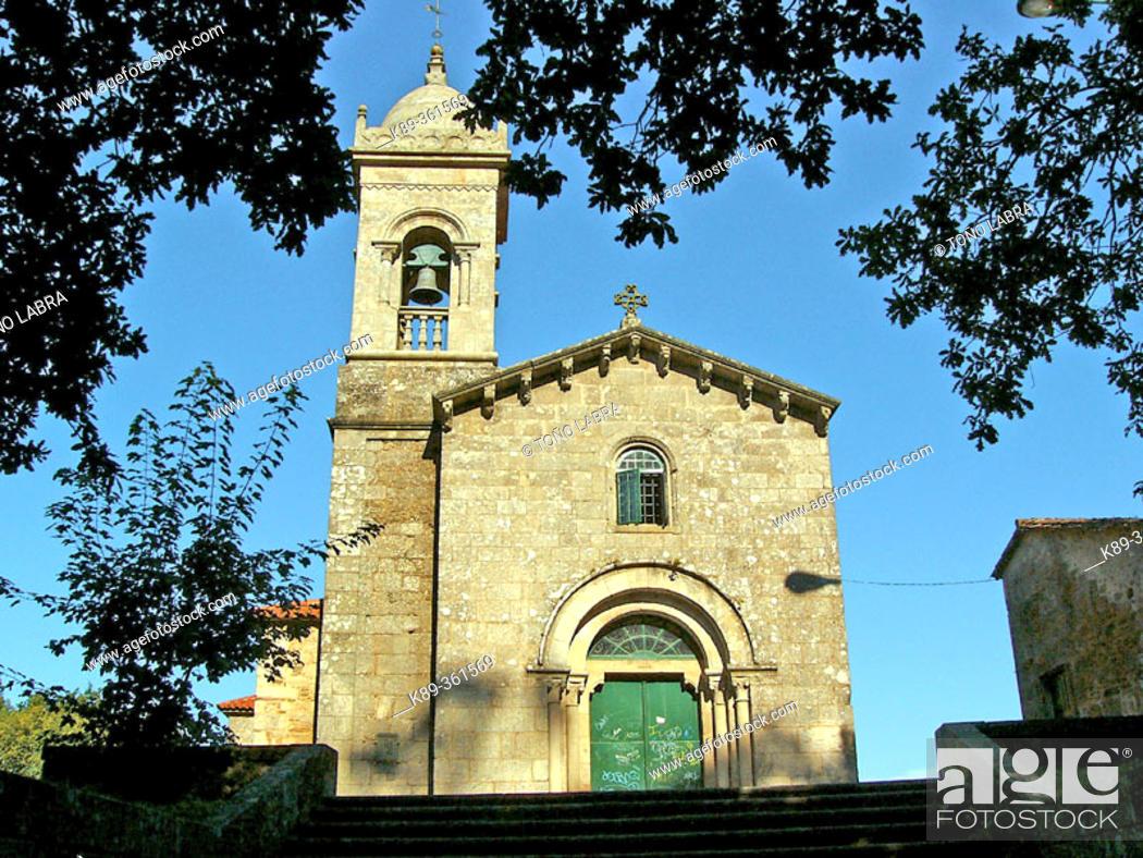 Stock Photo: Santa Susana church. Santiago de Compostela. Galicia. Spain.