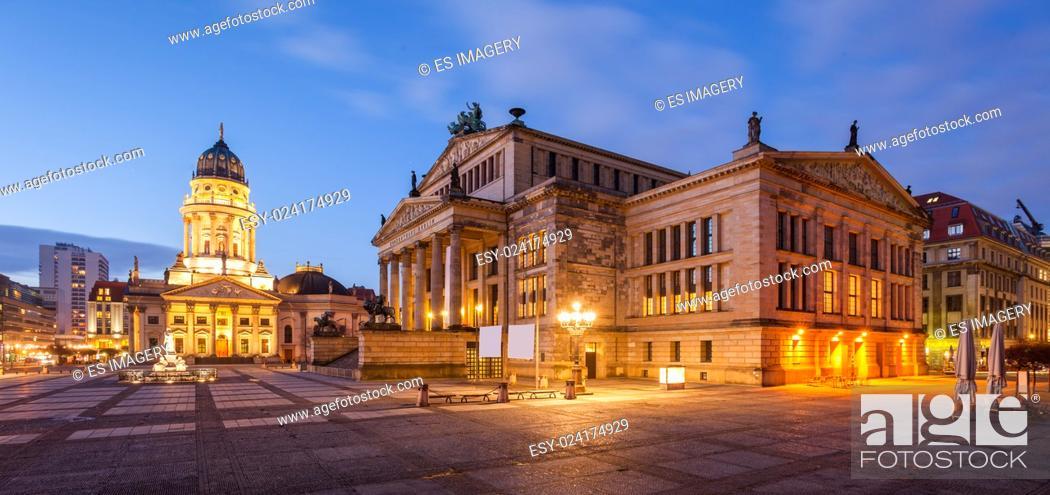 Stock Photo: Konzerthaus (Concert Hall) and Deutscher Dom / Neue Kirche (German Cathedral), Berlin.
