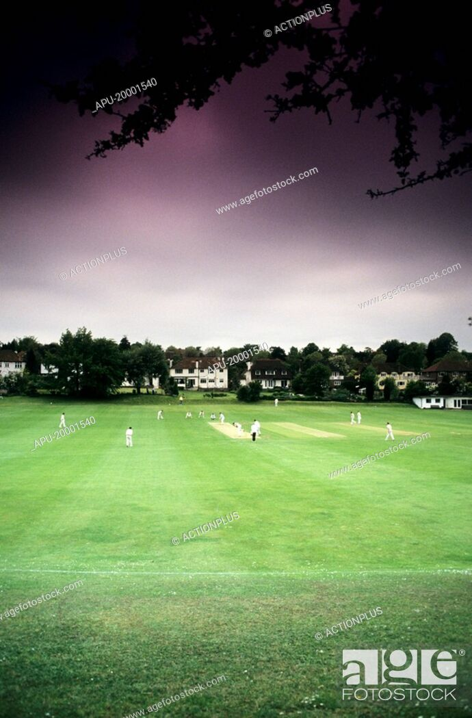 Stock Photo: Cricket match.