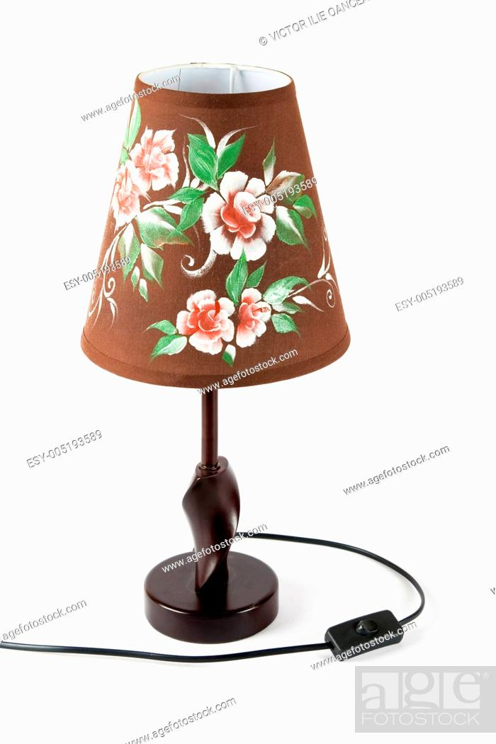 Stock Photo: Lighting home lamp isolated on white background.