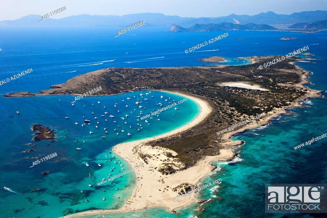 Stock Photo: Ses Salines Natural Park. S'Espalmador. Formentera Island. Balearic Islands. Spain.