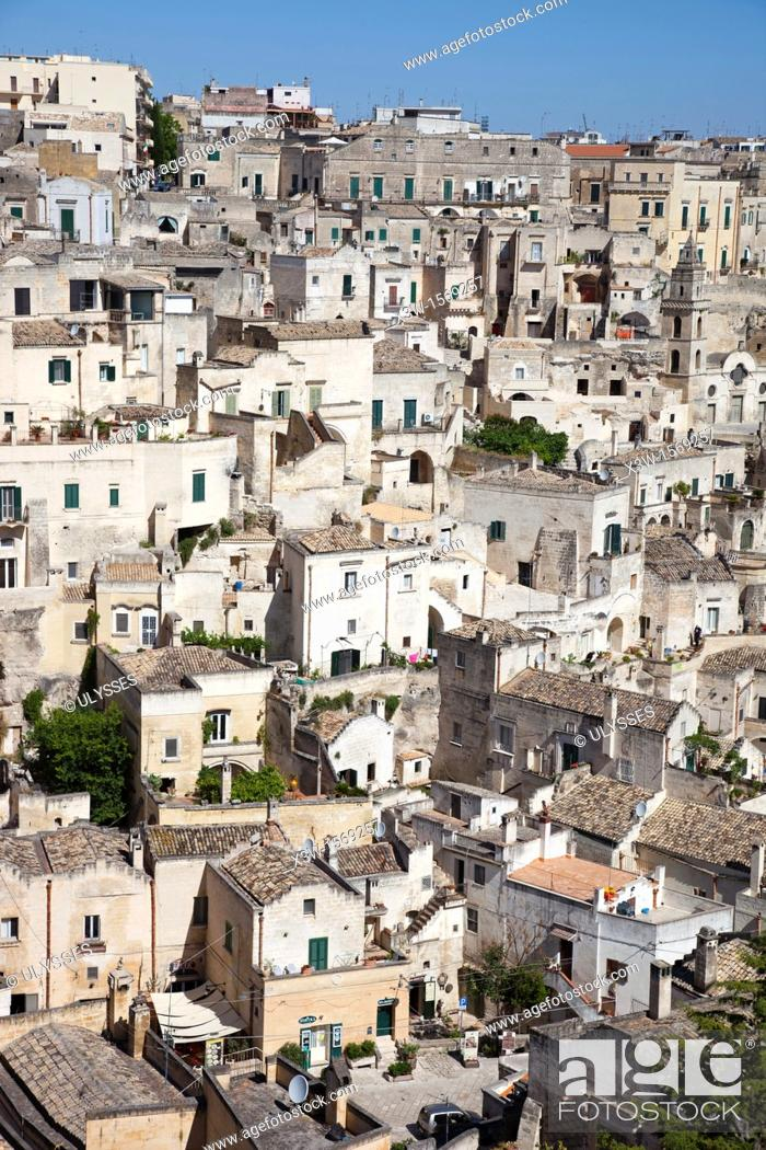 Stock Photo: view of matera, basilicata, italy, europe.