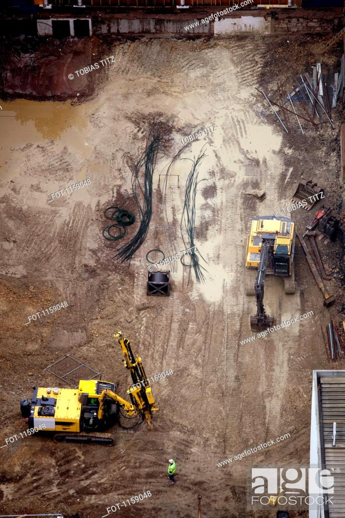 Stock Photo: Aerial view of construction site.