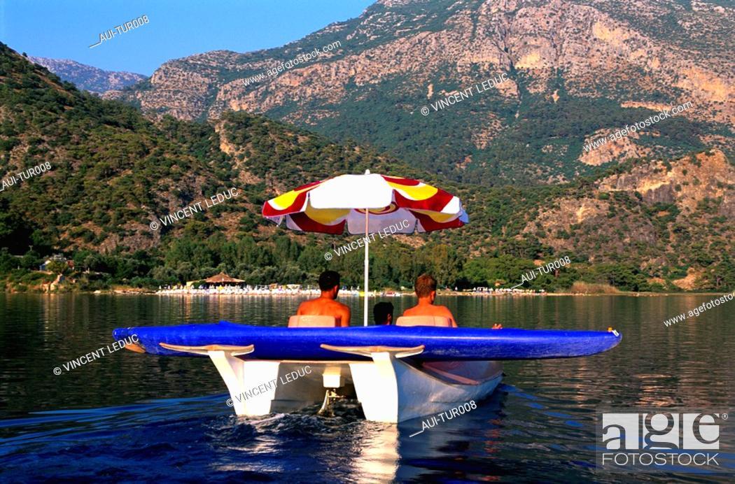 Stock Photo: Turkey - Mediterranean Coast - Mugla Region - Fethiye - Oluedeniz Bay.