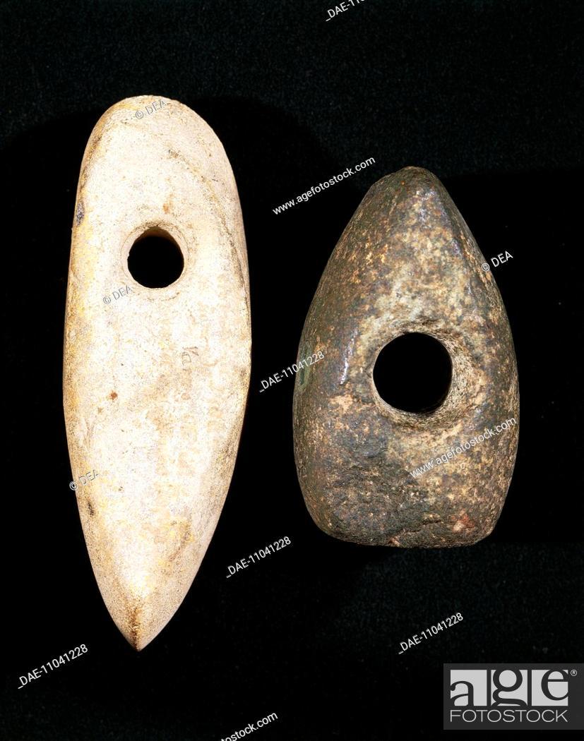 Prehistory, Italy, Bronze Age  Stone hammers, from Friuli