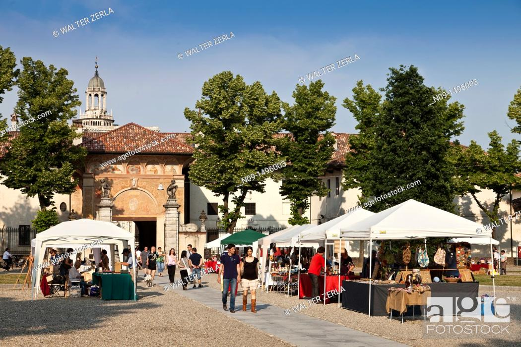 Stock Photo: Certosa di Pavia, Pavia, Lombardy.