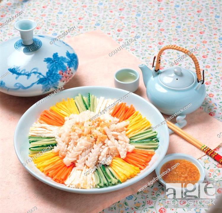 Stock Photo: korea culture, food, korean cuisine, korean food, cuisine, vegetable.
