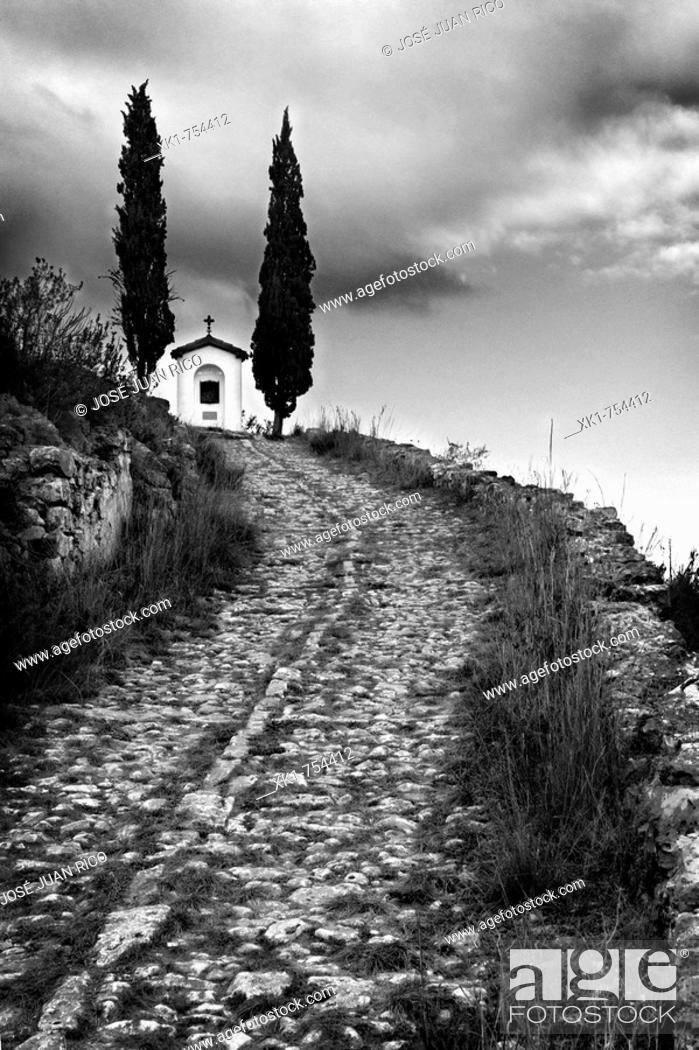Stock Photo: Chapel, Bocairent, Valencia province, Comunidad Valenciana, Spain.